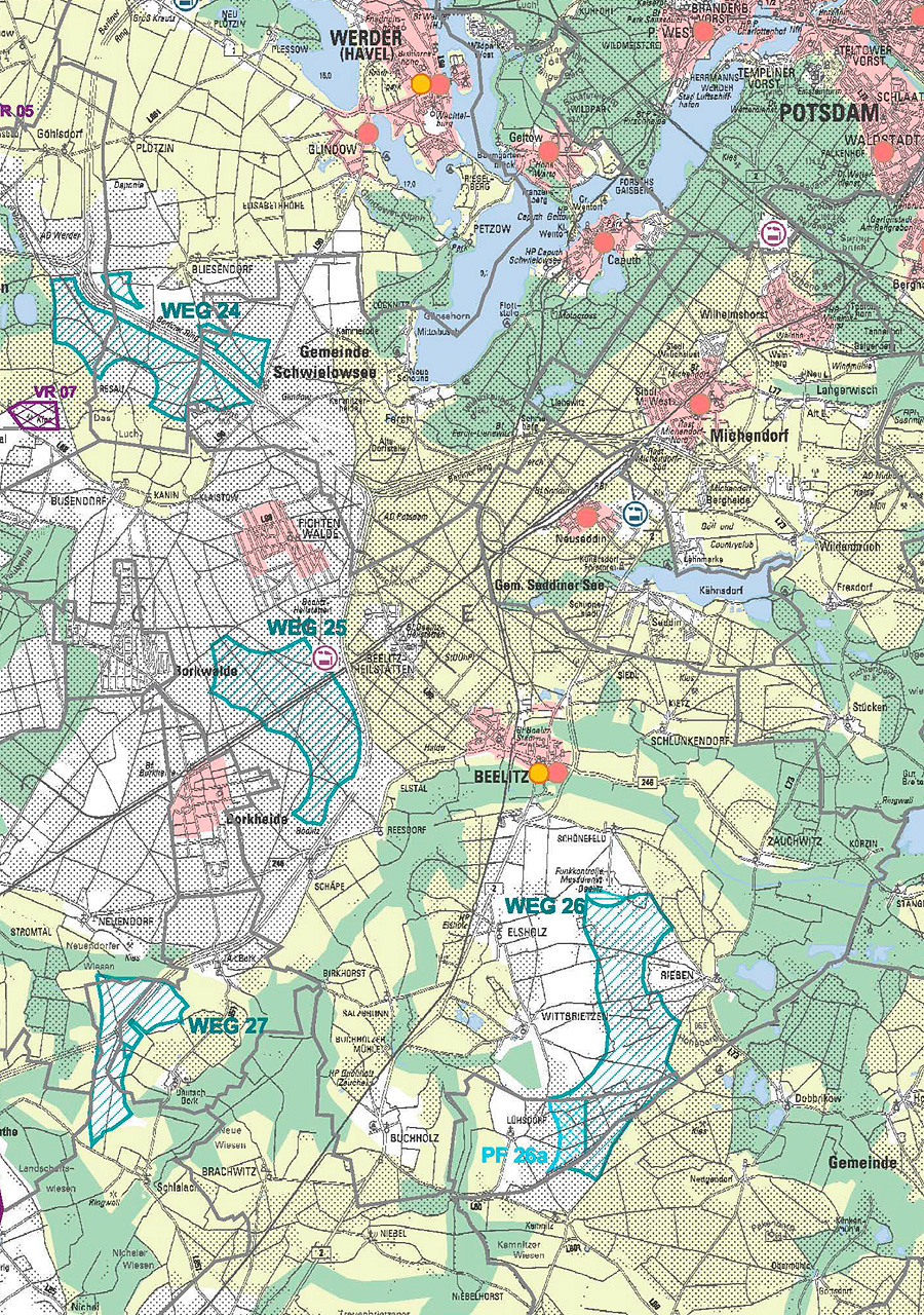Regionalplanung Windpark Dachsberg